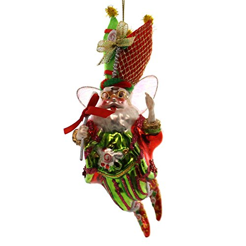 Holiday Ornaments LOLLPOP MAKER FAIRY ORNAMENT Glass Limited Edition 500 Christmas 3644044