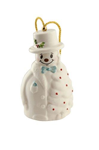 Belleek Snowman with Fir Tree Ornament