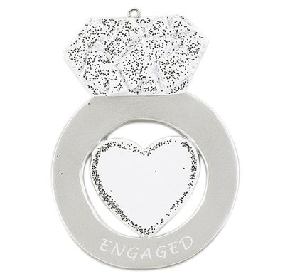 "Personalized ""Engagement Ring"" Ornament"