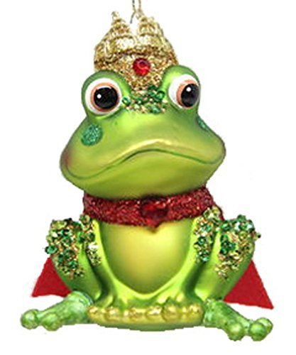 December Diamonds Blown Glass Ornament King Frog