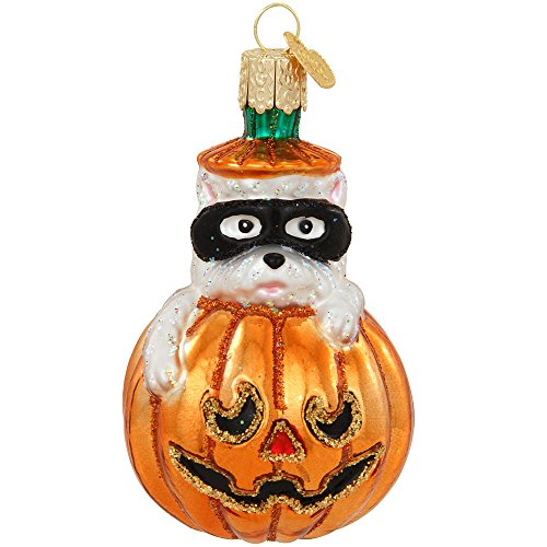 Old World Christmas WESTIE PUMPKIN 26070 Halloween Dog Mask