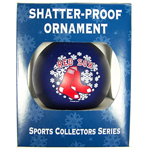 MLB Boston Red Sox Shatterproof Ball Ornament, 3.125″, Red