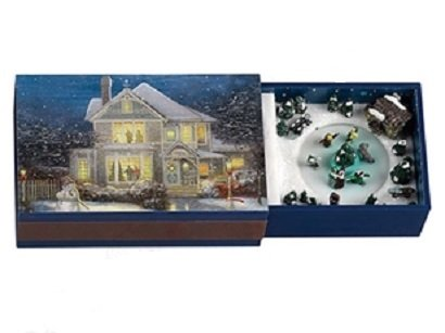 "Mr. Christmas Thomas Kinkade Holiday Match Box Melodies Music Box ""Hark the Herald Angel Sings"" Decoration #11453"