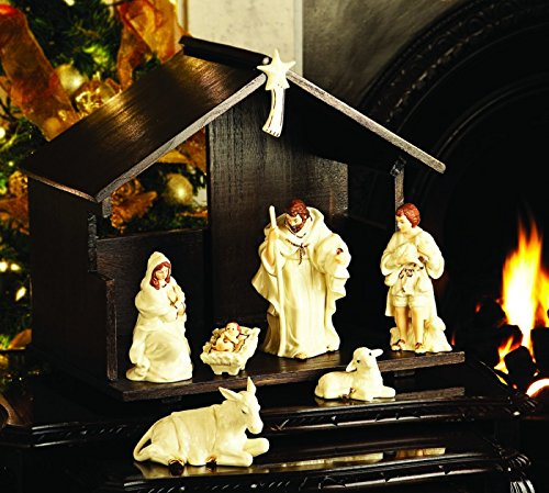 Classic Belleek Complete Nativity & 3 Kings Set