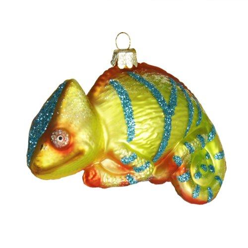 4.25″ Noble Gems Glass Chameleon Lizard Christmas Ornament