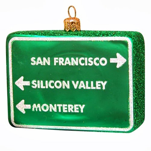 Ornaments to Remember: NORTHERN CALIFORNIA (SAN FRANCISCO, SILICON VALLEY, MONTEREY) Christmas Ornament