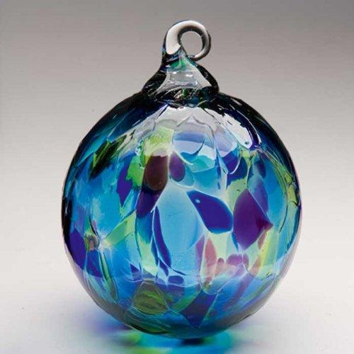Glass Eye Studios Blue Mosaic Glass Ornament