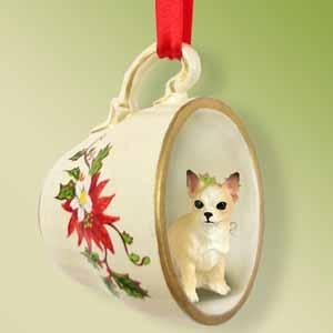 Chihuahua Tan Christmas Ornament Cup of Tea