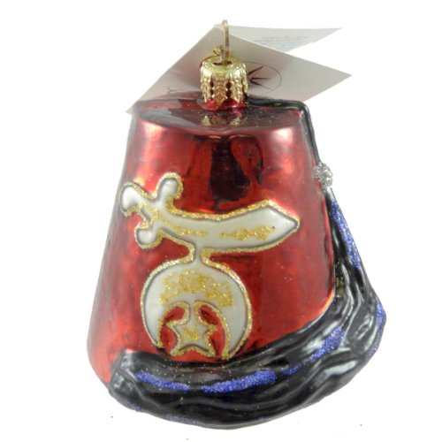 Christopher Radko SHRINE TIME Glass Ornament Hat Logo
