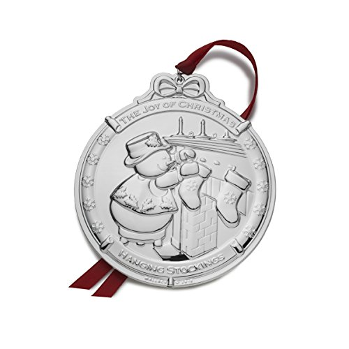 Wallace Silver Plated Snowman Ornament