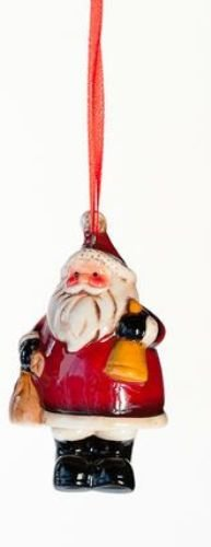 One Hundred 80 Degrees Santa Bell Ornament, Choice of Styles (bell)