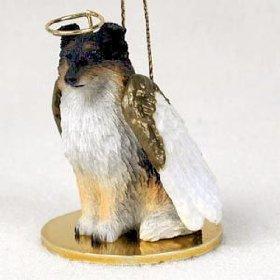 Sheltie Angel Dog Ornament – Tri Color