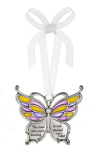Ganz Butterfly Wishes Colored Ornament – The time you enjoy wasting is not wasted Time