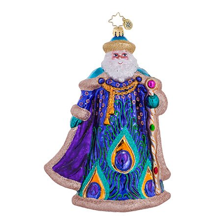 Christopher Radko Papa Plumage Santa Christmas Ornament 2013