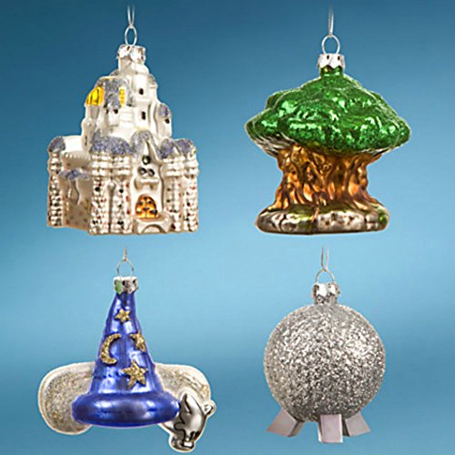 "Walt Disney World Resort ""Four Parks, One World"" Icon 4-Piece Ornament Set"