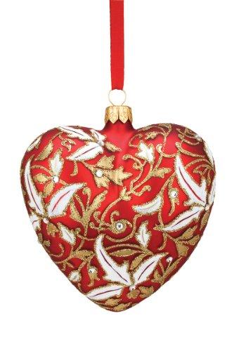 Reed & Barton European Glass Blown Royal Heart Ornament