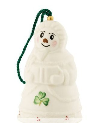 Belleek 4120 Snow Lady Bell Ornament, 2-Inch, White