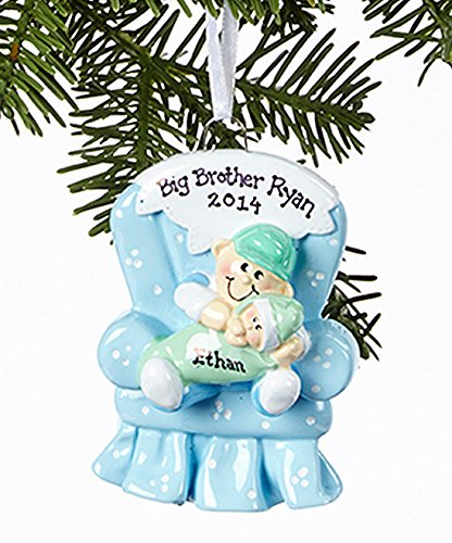 2308 Big Brother Chair Hand Personalized Christmas Ornament