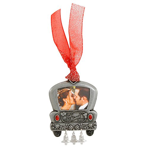 Gloria Duchin Christmas Traditions Just Married 2014 Wedding Car Photo Ornament