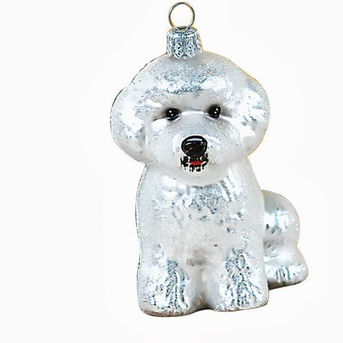 Ornaments To Remember Bichon Frise (White) Hand-Blown Glass Ornament
