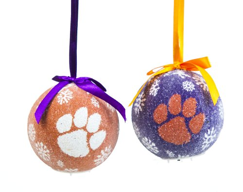 Clemson Boxed LED Ornament Set