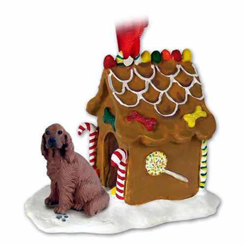 Irish Setter Ginger Bread House Ornament