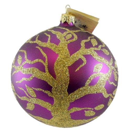 Christina's World GOLDEN TREE OF LIFE Glass Ornament Ball Christmas GAR 867