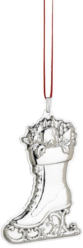 Reed & Barton Francis I Ice Skate Christmas Ornament, 3-1/2-Inch