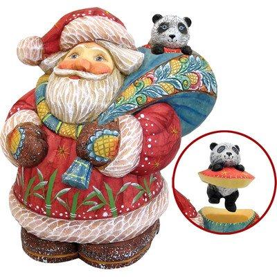 G.Debrekht 517884 Derevo Collection Santa with Panda Surprise Box 5 in.