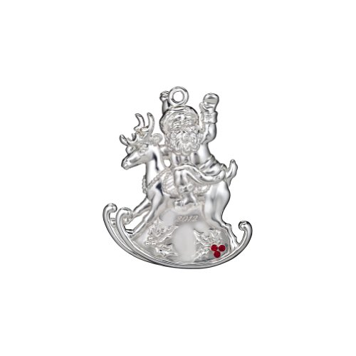Waterford Silver Santa Ornament