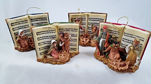 Christmas Song Book Ornaments Nativity Jesus Fontanini Silent Night O Holy Night