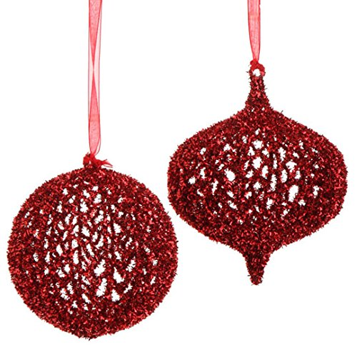 RAZ Imports – 5″ Mesh Ornaments – Set of 2