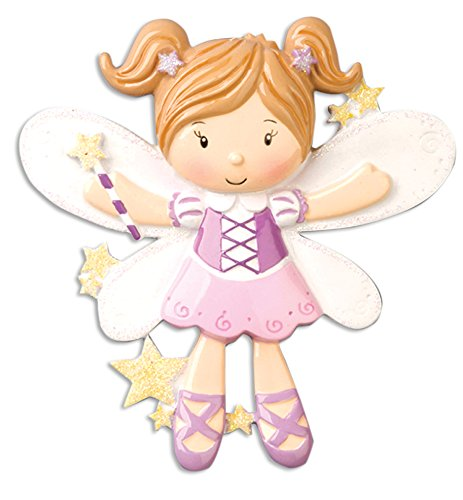 Personalized Christmas Ornament CHILD GIRL FAIRY WITH WINGS