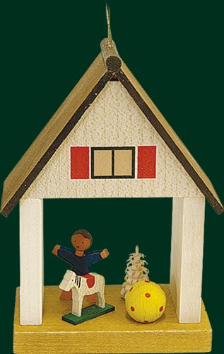 Hanging Christmas Tree House Shaped Ornament Child, 3.2 Inches