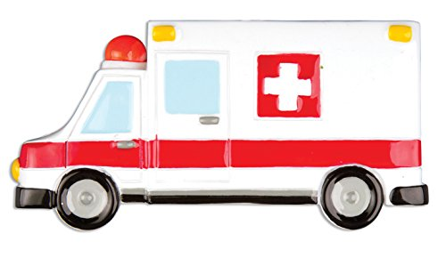 Personalized Christmas Ornament AMBULANCE / EMT Worker