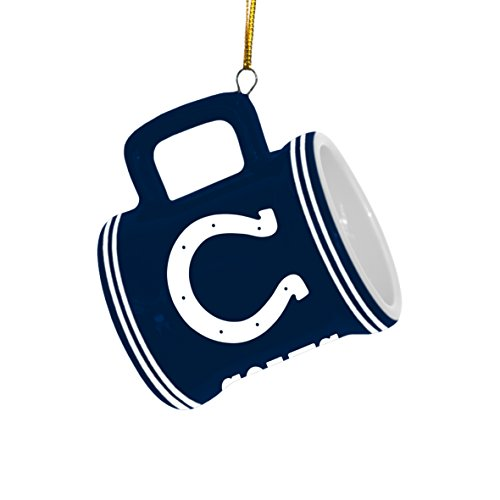 NFL Indianapolis Colts Mini Mug Ornament, 2.25″ Wide x 3″ Tall, Blue
