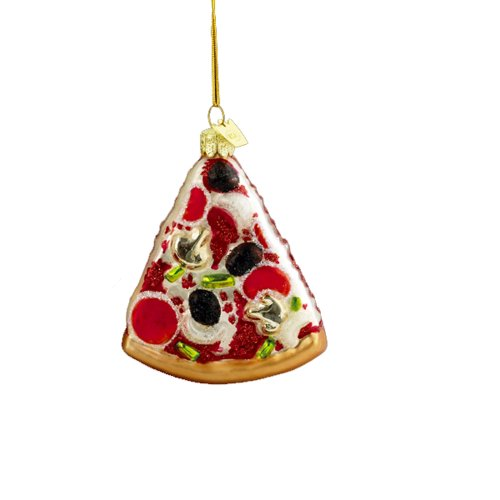 Kurt Adler 3-1/2-Inch Noble Gems Glass Pizza Slice Ornament