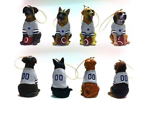 Team Dog Ornaments, 4 Assort., Dallas Cowboys