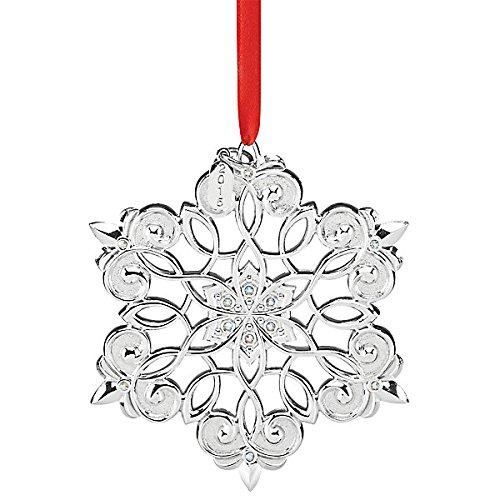 Lenox 2015 Snow Majesty Snowflake 11th Ornament, Silver