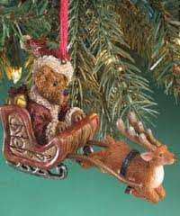 "Boyds Bears The Bearstone Collection ""Ol Saint Nick… On Dasher!"