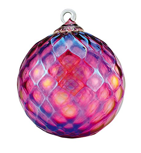 Glass Purple Diamond Facet Globe Ornament