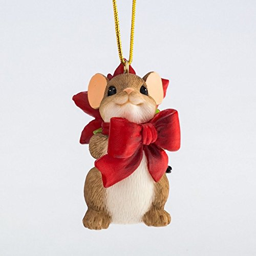 Enesco Charming Tails Pretty Little Gift Ornament, 2-Inch