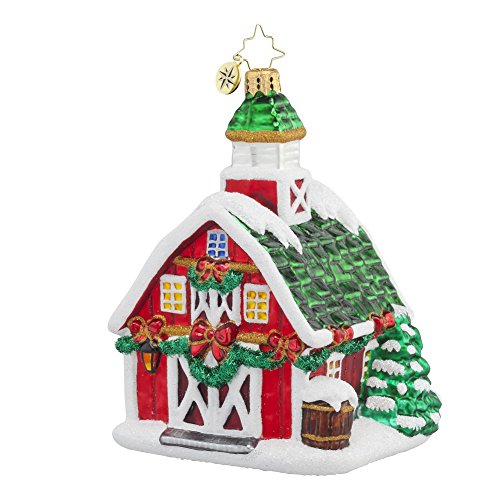 Christopher Radko Country Christmas Barn Glass Christmas Ornament