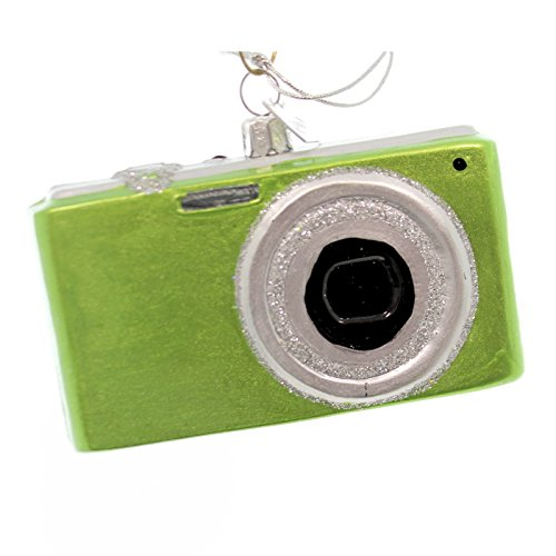 Noble Gems DIGITAL CAMERA Glass Glass Christmas Ornament Nb0397 Lime