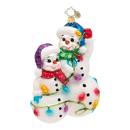 Christopher Radko Snowmen Glowmen Ornament