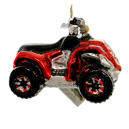 Noble Gems ATV VEHICLE Glass Glass Christmas Ornament Nb1017