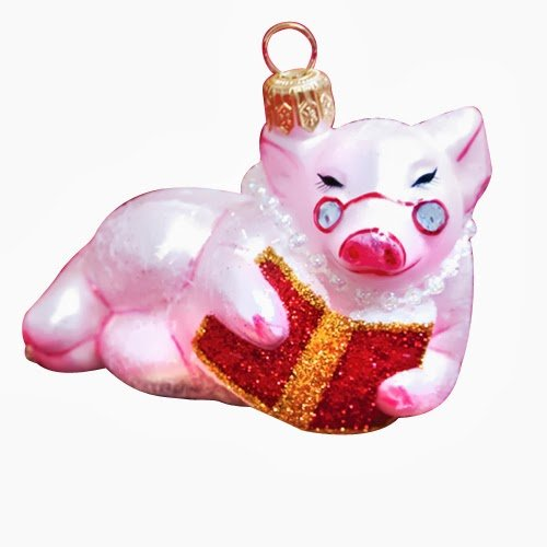 Ornaments to Remember: READING PIG Christmas Ornament