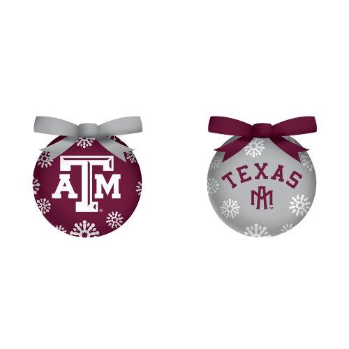 Texas A&M Boxed LED Ornament Set