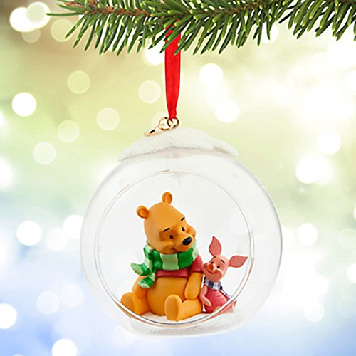 Disneys Winnie the Pooh and Piglet Glass Sketchbook Ornament 2015