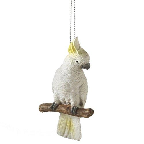 Resin Cockatoo Bird Christmas Ornament